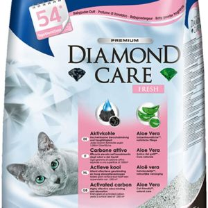 Biokat's Diamond Care Fresh mit Duft - Feine Katzenstreu mit Aktivkohle und Aloe Vera - 1 Sack