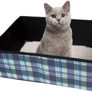 Faltbare Katzentoilette
