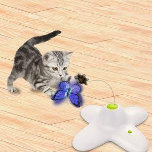 All for Paws Interaktives Katzenspielzeug mit Schmetterlingen